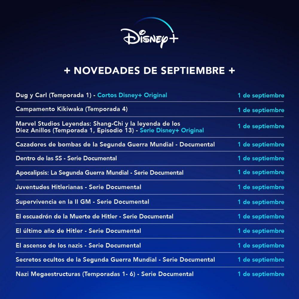La inquietante nueva programación de Disney +...